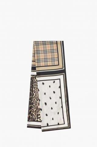 Burberry Animal Vintage Check Scarf