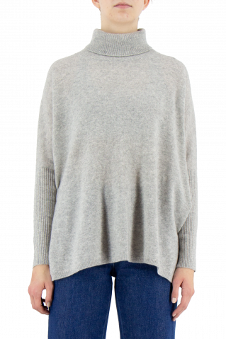 Not Shy Margareth Roll Neck Poncho Jumper