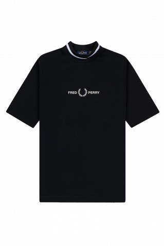 Fred Perry Printed Highneck T-Shirt