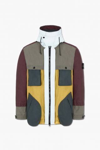 Stone Island Reflective Patchwork Double Layered Jacket