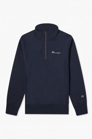 Champion Reverse Weave Small Script Half Zip Sweat