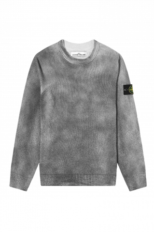 Stone Island Hand Sprayed Cotton Crew Knit