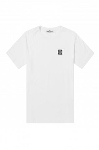 Stone Island Garment Dyed Patch Logo T-Shirt