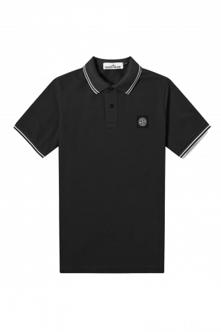 Stone Island Stretch Pique Tipped Polo