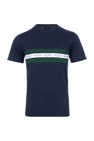 Fred Perry Taped Chest Logo T-Shirt