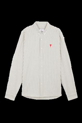 Ami Paris Pinstripe Ami de Coeur Shirt