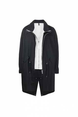 Helmut Lang Layered Gilet Parka Coat