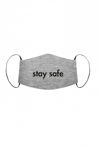Gesichtsmaske Stay Safe Grey Heather