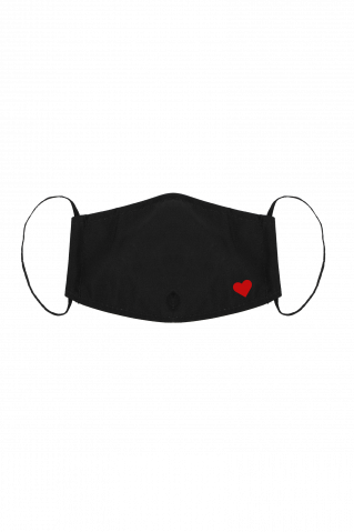 Gesichtsmaske Heart Black