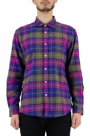 Portuguese Flannel Purple Check Shirt