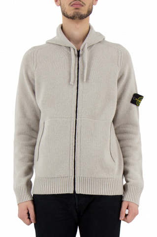 Stone Island Hooded Zip Knit Jumper